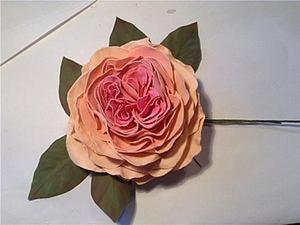 Создаем пионовидную розу из фоамирана (ревелюра). Ярмарка Мастеров - ручная работа, handmade.