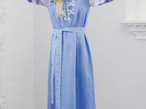 Платье Льняное Репейник Счастья. Ярмарка Мастеров - ручная работа, handmade.