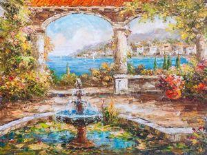 Скидки на средиземноморские картины. Ярмарка Мастеров - ручная работа, handmade.