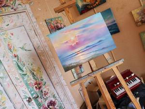 Как почувствовать любовь? Рисую солнечное море и болтаю. Ярмарка Мастеров - ручная работа, handmade.