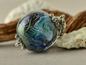 Кулон  «Морской аквариум». Ярмарка Мастеров - ручная работа, handmade.
