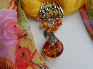 Украшение-оберёг для шарфа или платка. Ярмарка Мастеров - ручная работа, handmade.