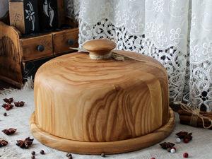 Огромная хлебница/блинница клош из карагача  «Чудо». Ярмарка Мастеров - ручная работа, handmade.