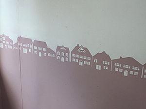 Do It Yourself: City Wall Templet Decor. Livemaster - handmade