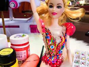 Мастерим купальник для куклы своими руками. Ярмарка Мастеров - ручная работа, handmade.