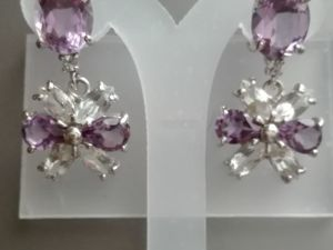 Скидка 20% на Серьги аметисты топазы серебро  «Fleur». Ярмарка Мастеров - ручная работа, handmade.
