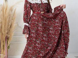 Аукцион Женственное платье в русском стиле! Старт 2500 р.!. Ярмарка Мастеров - ручная работа, handmade.