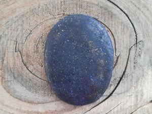 Видео кабошона из лазурита L008. Ярмарка Мастеров - ручная работа, handmade.