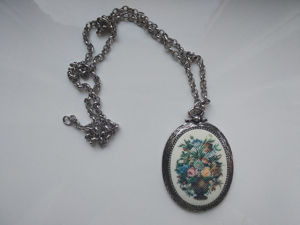 Винтаж: Кулон винтажный серебристый с цветами Sarah Coventry 70-е. Ярмарка Мастеров - ручная работа, handmade.