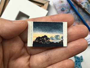 Palm Landscapes: Tiny Watercolor Paintings by Leigh Anna Newell. Livemaster - handmade