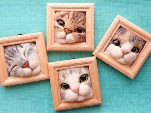 Милые кошачьи мордочки от Fujita Satomi. Ярмарка Мастеров - ручная работа, handmade.