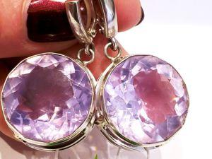 Видео серег «Lavender Angel» аметист лавандовый,серебро 925. Ярмарка Мастеров - ручная работа, handmade.