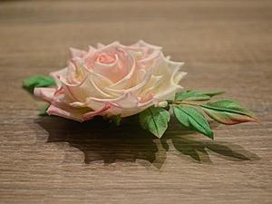Роза из шелка. Мастер-класс для начинающих. Ярмарка Мастеров - ручная работа, handmade.
