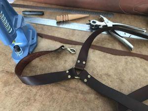 Как сделать кожаные подтяжки. Ярмарка Мастеров - ручная работа, handmade.