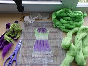 Валяем игрушечное платье. Ярмарка Мастеров - ручная работа, handmade.