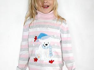 Украшаем детский свитер вышивкой-аппликацией. Ярмарка Мастеров - ручная работа, handmade.