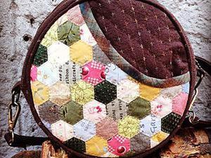 Круглая сумочка в японском стиле (часть 1). Ярмарка Мастеров - ручная работа, handmade.