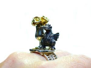 Аукцион на серебряное кольцо-шутку  «Первое свидание» . Старт 3000 руб. Шаг 100 руб. Ярмарка Мастеров - ручная работа, handmade.