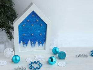 Crafting a Christmas House Night Lamp of a Garland and Cardboard. Livemaster - hecho a mano - handmade.
