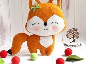 Шьем милую детскую игрушку из фетра «Лисичка». Ярмарка Мастеров - ручная работа, handmade.