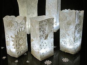"""Шерстяные светильники """"Морозные узоры"""" ( делаем абажур в технике нунофелтинг). Ярмарка Мастеров - ручная работа, handmade."""