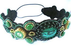 """Мастер-класс по созданию повязки на голову """"Эльфийский лес"""". Ярмарка Мастеров - ручная работа, handmade."""