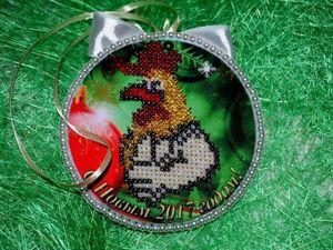 Вышиваем новогодний сувенир «Петушок». Ярмарка Мастеров - ручная работа, handmade.