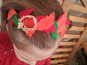 Ободок из фетра — «Принцесса осенний листок». Ярмарка Мастеров - ручная работа, handmade.