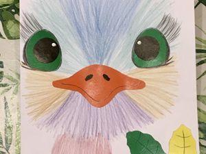 Осенние поделки. Рисуем карандашом. Аппликация из картона. Ярмарка Мастеров - ручная работа, handmade.