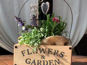 Мастерим винтажный короб для цветов. Ярмарка Мастеров - ручная работа, handmade.