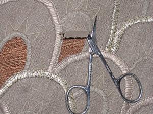 Прорезная вышивка льняного передника. Ярмарка Мастеров - ручная работа, handmade.
