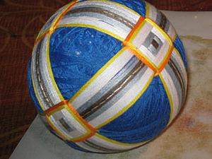 Делаем шар темари. Ярмарка Мастеров - ручная работа, handmade.