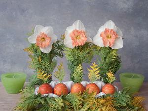 Создаем пасхальный декор «Огород с морковками». Ярмарка Мастеров - ручная работа, handmade.