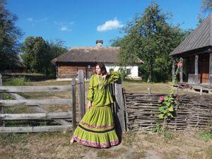 Презентация костюма в народном стиле (короткое видео). Ярмарка Мастеров - ручная работа, handmade.