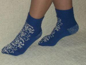 Скидка на носочки Зимние узоры 35%. Ярмарка Мастеров - ручная работа, handmade.