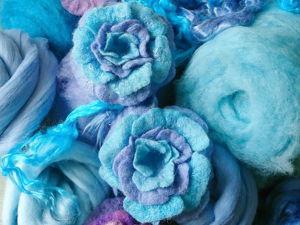 Валяем цветы из шерсти в технике мокрое валяние. Ярмарка Мастеров - ручная работа, handmade.
