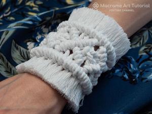 Делаем браслет в технике макраме. Ярмарка Мастеров - ручная работа, handmade.