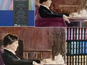 Рисуем Шерлока и Мориарти. Видео мастер-класс: совмещаем акварель с пастелью. Ярмарка Мастеров - ручная работа, handmade.