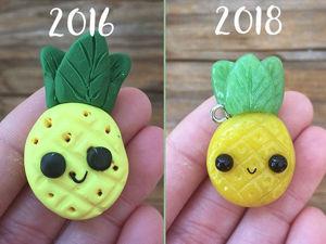Тогда и сейчас: полимерщики показали свой прогресс в лепке, и получилось очень мило. Ярмарка Мастеров - ручная работа, handmade.