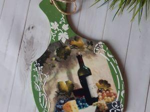 Декорируем деревянную доску в технике декупаж с вживлением распечатки. Ярмарка Мастеров - ручная работа, handmade.