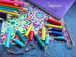 Лепим цветные карандаши из остатков полимерной глины. Ярмарка Мастеров - ручная работа, handmade.