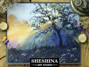 Видеоурок: рисуем пейзаж с закатным освещением сухой пастелью. Ярмарка Мастеров - ручная работа, handmade.