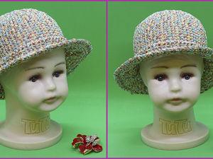 Видеоурок: шляпка крючком из пряжи «Косичка». Ярмарка Мастеров - ручная работа, handmade.