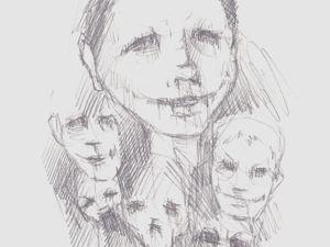 День 243. Набросок карандашом  «Поколение вечного праздника». Ярмарка Мастеров - ручная работа, handmade.