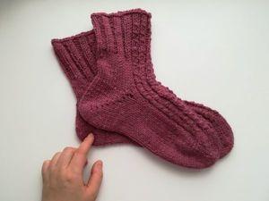 Вяжем носки от мыска к резинке. Ярмарка Мастеров - ручная работа, handmade.