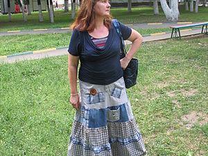 Юбка из старых джинсов. Ярмарка Мастеров - ручная работа, handmade.
