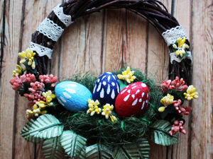 Making Simple Easter Wreath. Livemaster - handmade