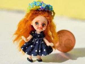 Небольшое видео с моей новой куколкой-дюймовочкой. Ярмарка Мастеров - ручная работа, handmade.