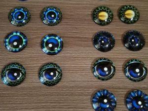Фурнитура для кукол и игрушек. Глазки стеклянные. Ярмарка Мастеров - ручная работа, handmade.