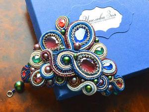 Создаем браслет «Королевский стиль» из сутажа с кристаллами Swarovski. Ярмарка Мастеров - ручная работа, handmade.